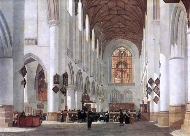 Job Adriaensz Berckheyde Interior Of The St Bavo Church At