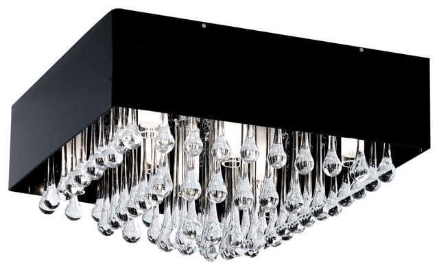 Black Crystal Ceiling Light