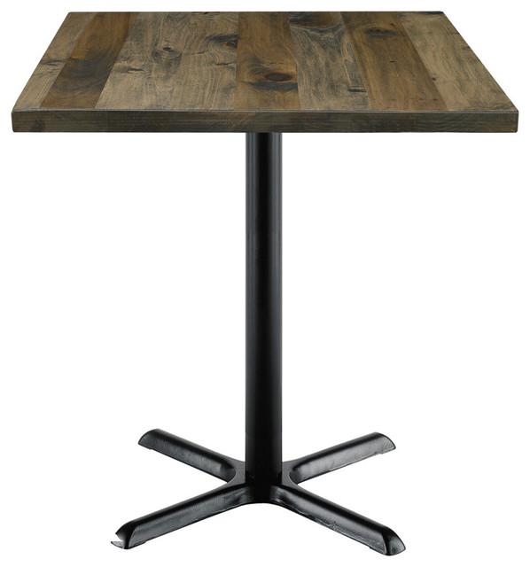 Kfi Urban Loft 30 Square Vintage Wood Counter Table.