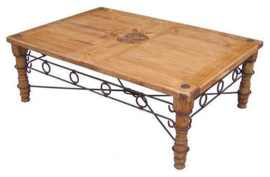 Star Coffee Table With Iron Accents southwestern coffee tables. Star Coffee Table With Iron Accents   Southwestern   Coffee Tables
