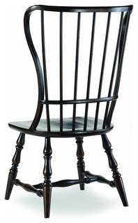Hooker Furniture Sanctuary Ebony Spindle Chair, Set Of 2, Side