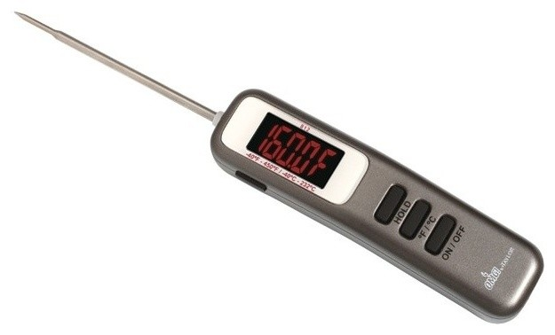 Taylor 812OMG LED Thermometer With Folding Probe And Flashlight  Contemporary Kitchen Thermometers
