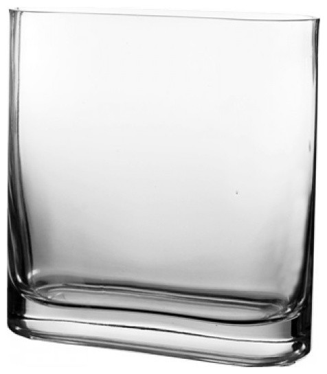Glass Rounded Edge Rectangle Vase 8 Contemporary Vases By
