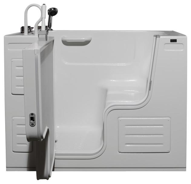 51x27 Walk-In Ada Compliant Bathtub, Right, Air Massage System.