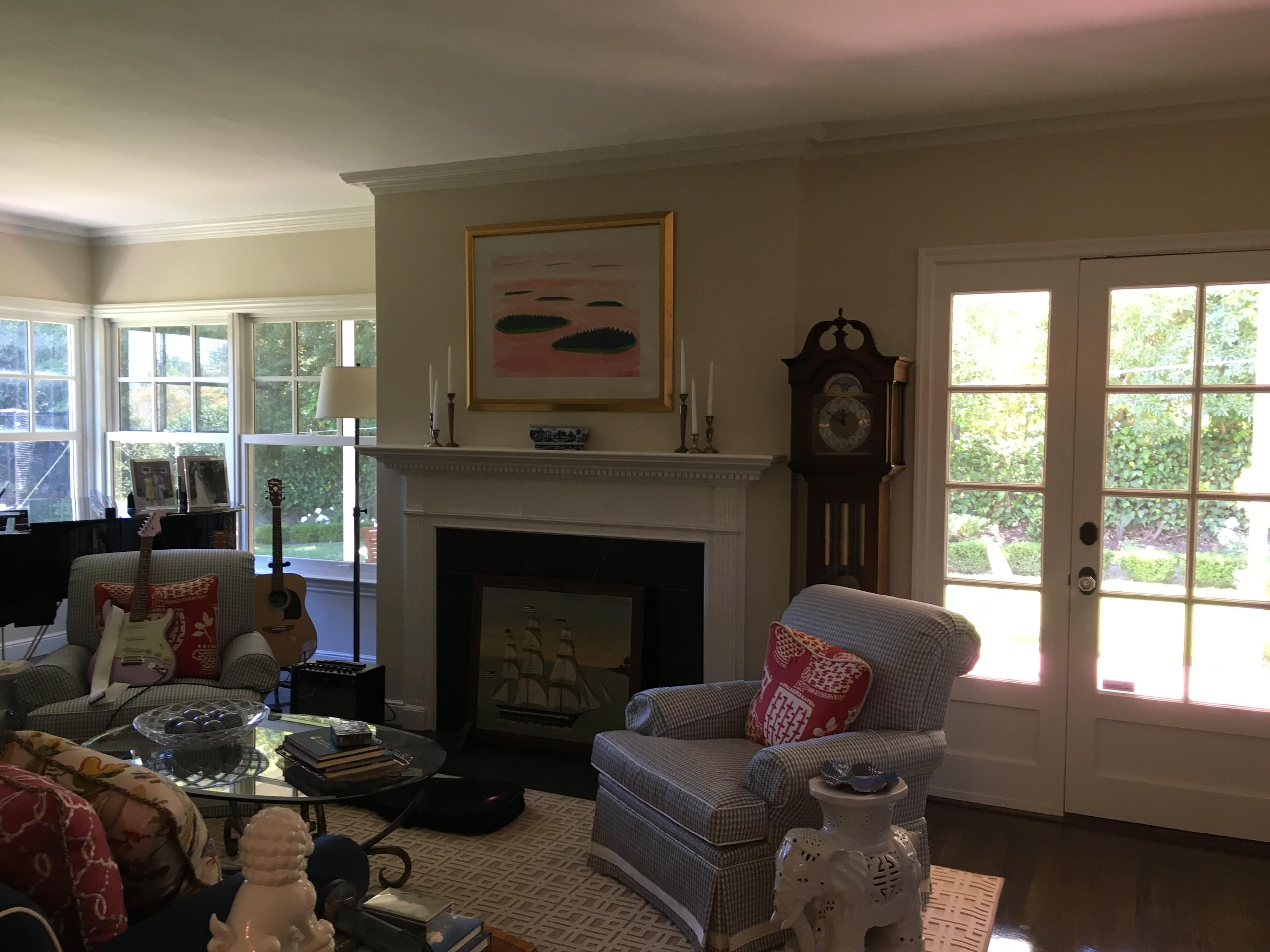 Colonial Revival - Living room, before