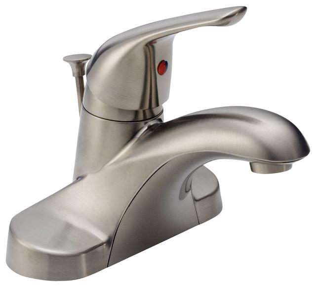 delta single handle centerset lavatory faucet b510lf ss