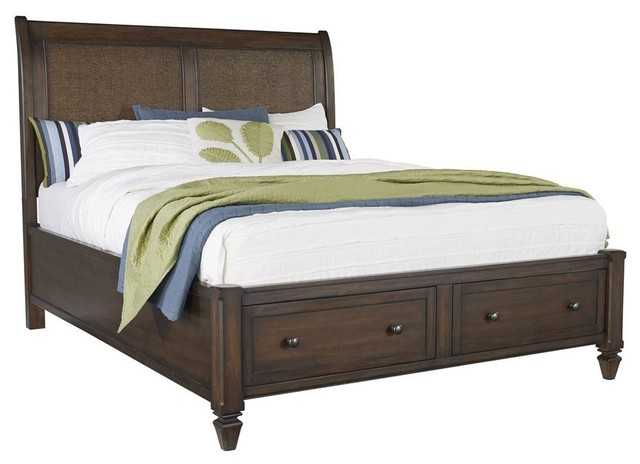 "Storage Bed, Distressed Sable, 90""x64""x58"""