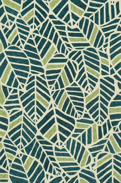 ... Blue/Green Area Rug. Indoor/Outdoor Tropez 2u00273