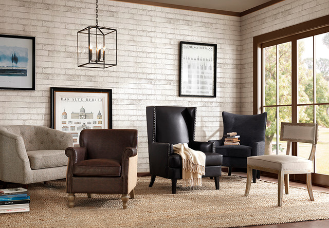 Fabulous accent chairs modern living room san for Side chairs for living room