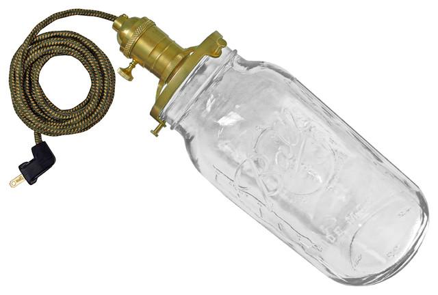The Leroy Lamp, Cord: Green/Yellow, Pendant, With Plug