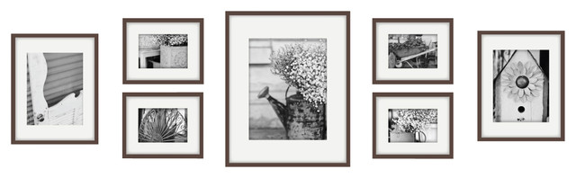 gallery perfect piece frame set walnut modern picture frames photo images for sale uk