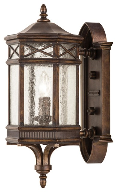 Antique Exterior Wall Sconces : Fine Art Lamps 844881 Holland Park Antique Bronze Outdoor Wall Sconce - Traditional - Outdoor ...