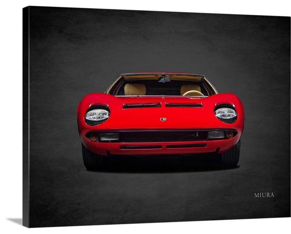 Lamborghini Miura Wrapped Canvas Art Print Contemporary