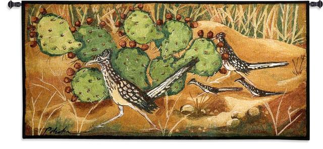 """Desert Tracks Wall Tapestry, 26""""x53""""."""