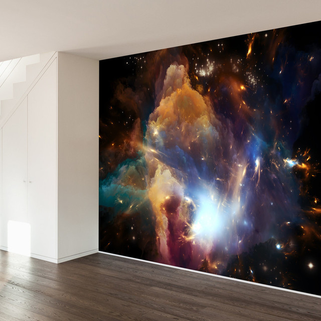 Wall Mural Decal in the dawn of the cosmos wall mural decal - contemporary - wall