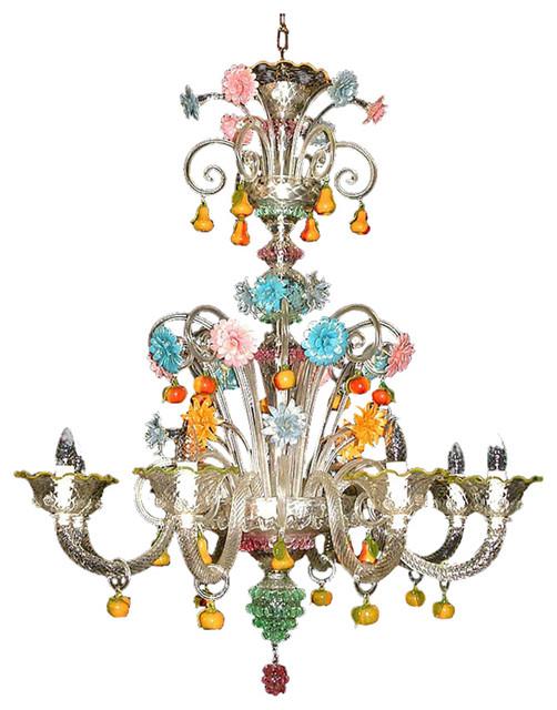Tripudio Murano Glass Chandelier, 8 Lights