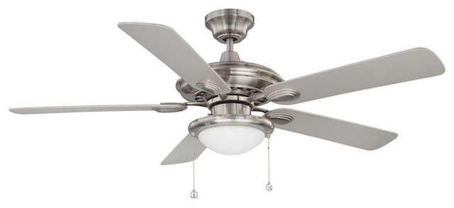 Builder&x27;s Choice 52 Satin Nickel Ceiling Fan.
