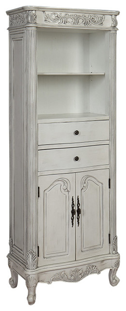72 Inch Tall Traditional Style Linen Cabinet