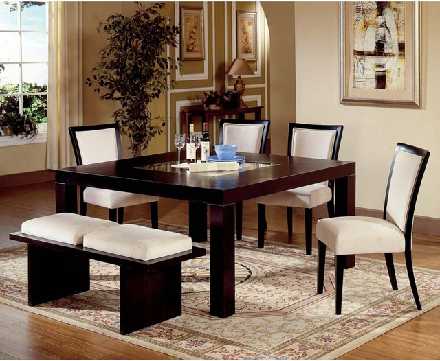 Steve Silver Movado 6 Piece Dining Table Set With Bench