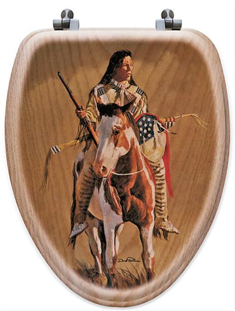Pleasant Native American Art Oak Toilet Seats Elongated Forskolin Free Trial Chair Design Images Forskolin Free Trialorg