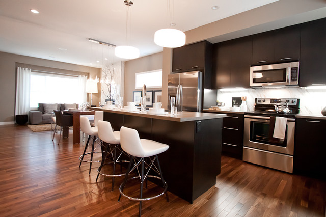 Superior Example Of A Small Trendy Home Design Design In Calgary