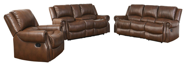 Strange Abbyson Living Calabasas 3 Piece Mesa Reclining Sofa Set Machost Co Dining Chair Design Ideas Machostcouk