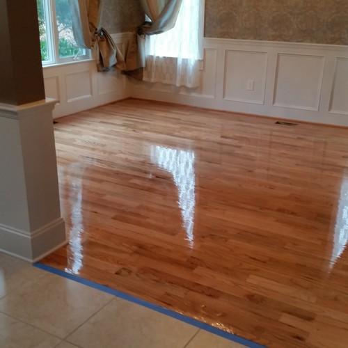 Refinished The Existing 3 1 4 Red Oak Hardwood Floors