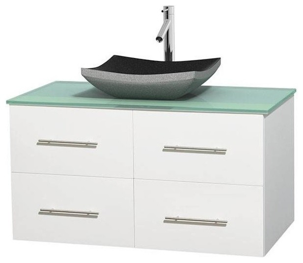 42 Eco Friendly Single Bathroom Vanity With Altair Black Granite Sink