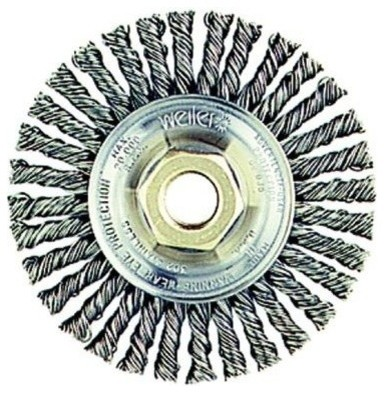 Roughneck Stringer Bead Wheel, 4x3/16, 0.02 Stainless Wire, 20, 000 Rpm.