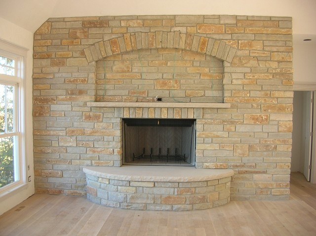 Limestone Fireplace - Traditional - Family Room - Other - by ...