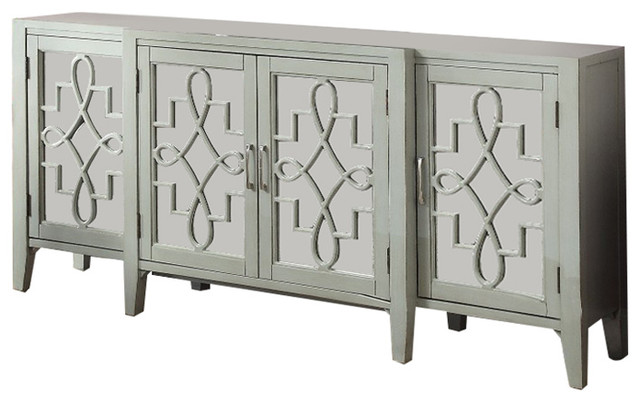 Grand Kacia Console Table, Antique Gray.