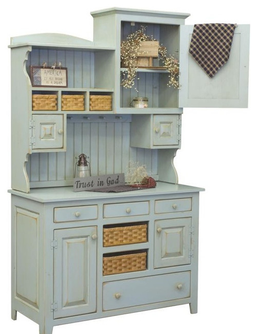 Chelsea Home Furniture Annie 2 Piece Hutch in Seafoam