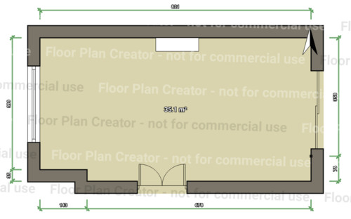 Rectangular Living room layout help