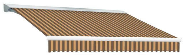 18&x27; Destin With Hood Right Motor/remote Retractable Awning, Brown/tan.