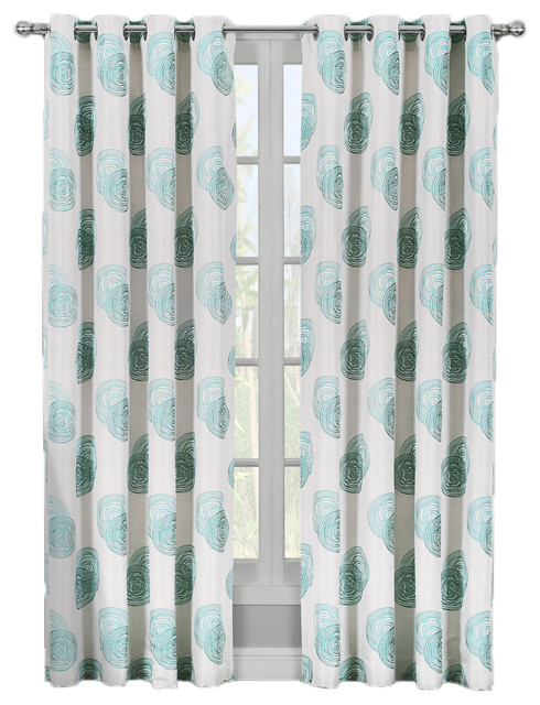 Lafayette Jacquard Grommet Curtains, Set Of 2, Blue, 108x96, Set Of 2.