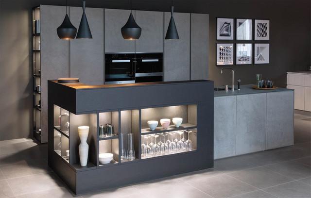 Concrete kitchen contemporaneo cucina perth di indesign wa - Cucine concreta ...
