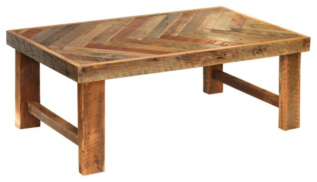 Herringbone Coffee Table Wood Legs Rustic Coffee Tables By