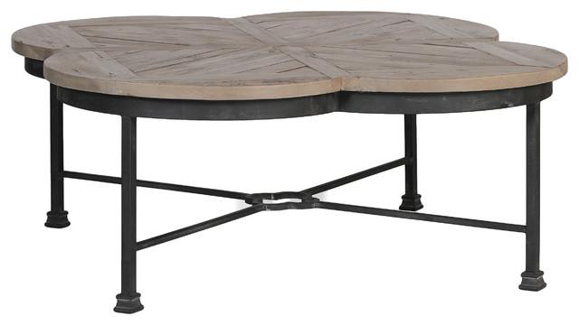 Genial Gabby Edwin Quatrefoil Coffee Table