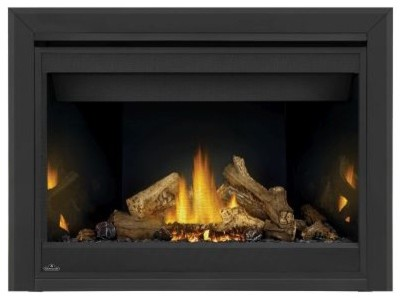 Napoleon B46 Ascent Electric Fireplace, Porcelain Panels, Trim Kit, Natural Gas.