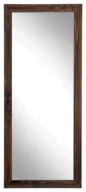 BrandtWorks Rustic Espresso Floor Mirror, 31.5\