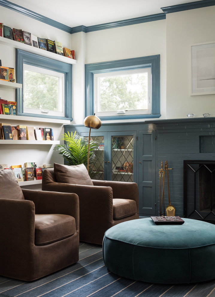 Large trendy home design photo in New York