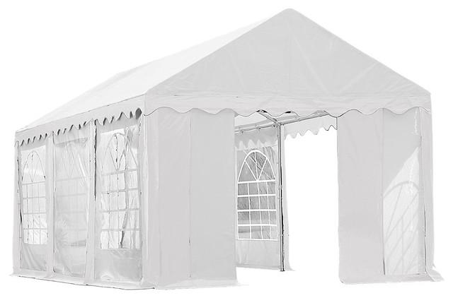 Shelterlogic Party Tent Enclosure Kit With Windows 10&x27;x20&x27;, White.
