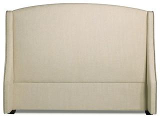 Creme Modern Classic Upholstered King Headboard
