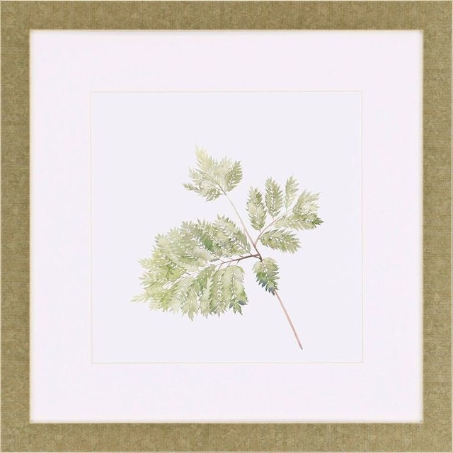 "Watercolor Leaf Study Ii Artwork, 30""x30""."