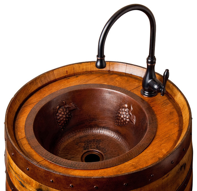 wine barrel bar sink rustic bar sinks alpine wine design outdoor