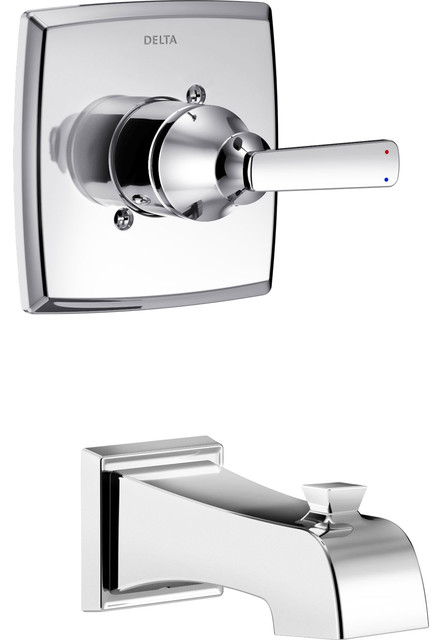 Delta Ashlyn Chrome Single Handle Wall Mounted Tub Only