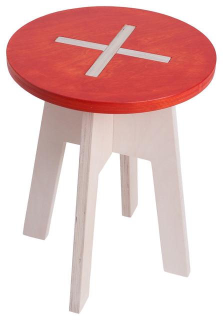 Astounding Round Cross Lock Stool Red Ibusinesslaw Wood Chair Design Ideas Ibusinesslaworg