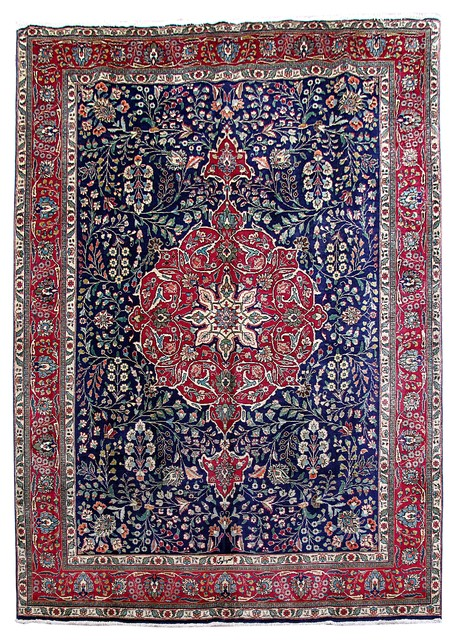 Consigned Persian Rug 8 X11 Handmade Wool Tabriz Traditional