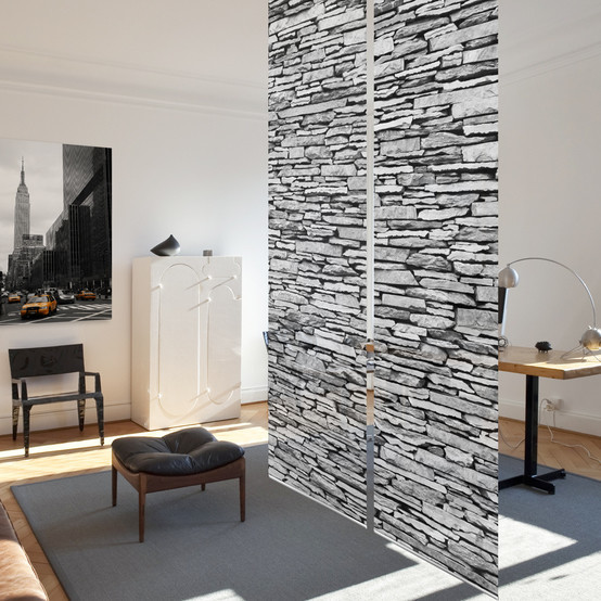 Top Design Schiebegardinen | Schiebevorhänge | textile Raumtrenner RH35