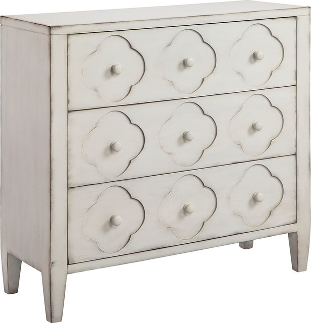 Juliette Chest, Hand-Painted, White.